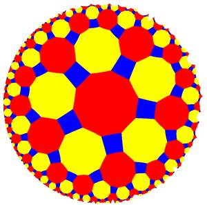 Truncated order-4 pentagonal tiling - Image: Uniform tiling 552 t 012