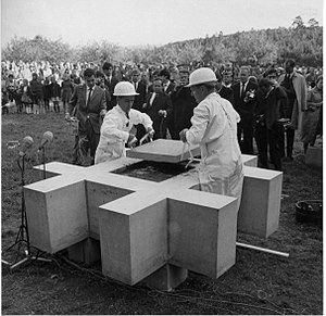 University of Konstanz - laying of the foundation stone, 21 June 1966