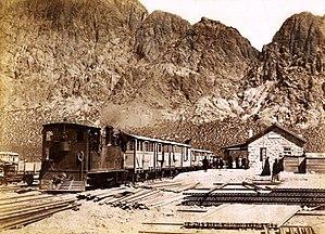 Transandine Railway - Image: Uspallata 1900