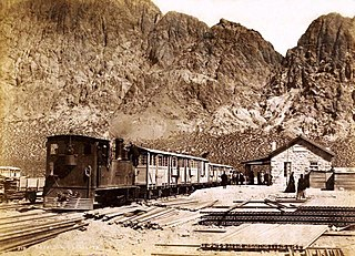 Transandine Railway Era un Ferrocarril de 1910