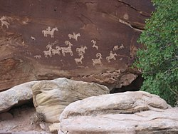 Ute Petroglyphs in Arches National Park