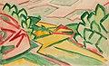 Václav Špála, Prokopské údolí (1913), tužka, akvarel 203 x 336 mm, sbírka kresby Národní galerie v Praze.jpg
