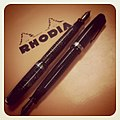 VACUMATIC FRIDAY! 1944 with Pelikan Royal Blue, 1945 with Waterman Brown -dailyarsenal -fountainpen (5516926507).jpg