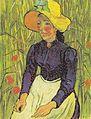 Van Gogh - Junge Bäuerin mit Strohhut, vor einem Weizenfeld sitzend.jpeg