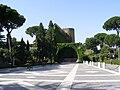 Vatican Gardens - view towards the Lourdes cave replica.jpg
