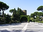 Vatican Gardens - view towards the Lourdes cave replica.jpg