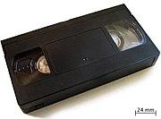 Imagen de un cassette de VHS tomada de la Wikipedia