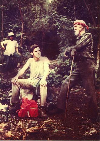 Victor Mills - Victor Mills, trekking with his grandson in Guatemala, 1973