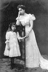 Victoria Melita of Edimburg and her daughter Elizabeth.jpg