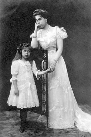 Princess Elisabeth of Hesse and by Rhine (1895–1903) - Princess Elisabeth of Hesse with her mother Princess Victoria Melita of Saxe-Coburg and Gotha, whom Elisabeth resented after her parents' divorce.