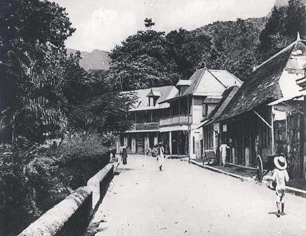 Victoria buildings Seychelles 1900s