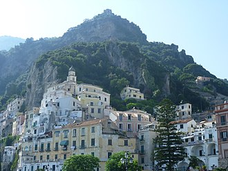 Amalfi - View of Amalfi.