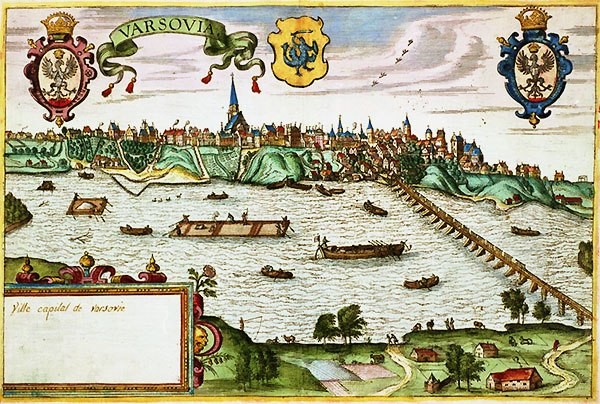 View of Warsaw near the end of the 16th century