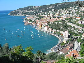 A view of the harbour at Villefranche-sur-Mer