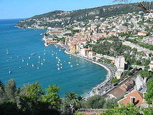 Villefranche-sur-Mer - A view of the harbour at Villefranche-sur-Mer