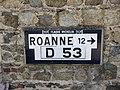 Villemontais - Ancien panneau TCF direction Roanne (juil 2018).jpg