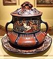 Villeroy & boch, bacinella da punch con vassoio e mestolo, gres, argento e legno, mittelach (D) 1902, 01.jpg