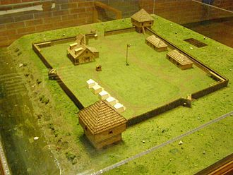 Vincennes, Indiana - Diorama of Fort Sackville