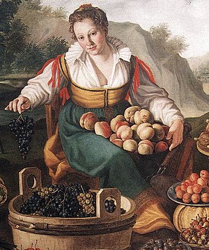 Vincenzo Campi - Vincenzo Campi, The Fruit Seller (detail), 1580, oil on canvas, 145 x 215 cm, Pinacoteca di Brera, Milan