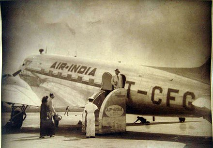 Vintage photograph of an Air India plane Vintage photograph of an Air India plane.jpg