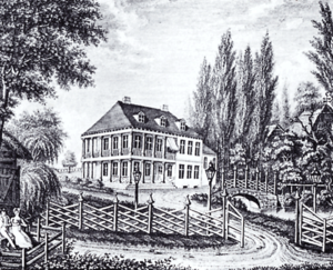 Caspar Voght - Voght's country house in Klein-Flottbek, steel engraving by L. Wolf (1805)