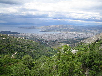 Volos - Volos panorama from Pelion mountain.