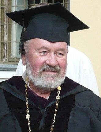 National University of Kyiv-Mohyla Academy - Vyacheslav Bryukhovetskyi, who initiated the revival of the Kyiv-Mohyla Academy was awarded the title Hero of Ukraine for this.