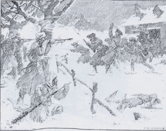 King George's War - French and Mi'kmaq raid on Grand Pré, February 1747
