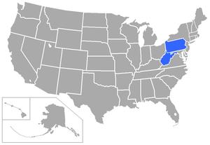 West Virginia Intercollegiate Athletic Conference - Image: WVIA Cstates