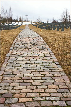 Auce - Image: WWII cemetery in Auce
