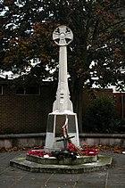 Walmley's war memorial is located next to 'The Fox Inn'.