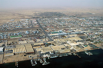 Walvis Bay - May 2005 aerial photograph of the harbour area