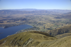 Wanaka - View of Wanaka from Mt Roy.