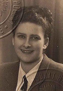 Wanda Sieradzka in a 1947 Polish passport (cropped).jpg
