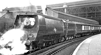 SR Merchant Navy class - 21C18 British India Line hauling the Bournemouth Belle in 1946