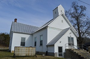 Symmes Township, Lawrence County, Ohio - Former Methodist church at Waterloo