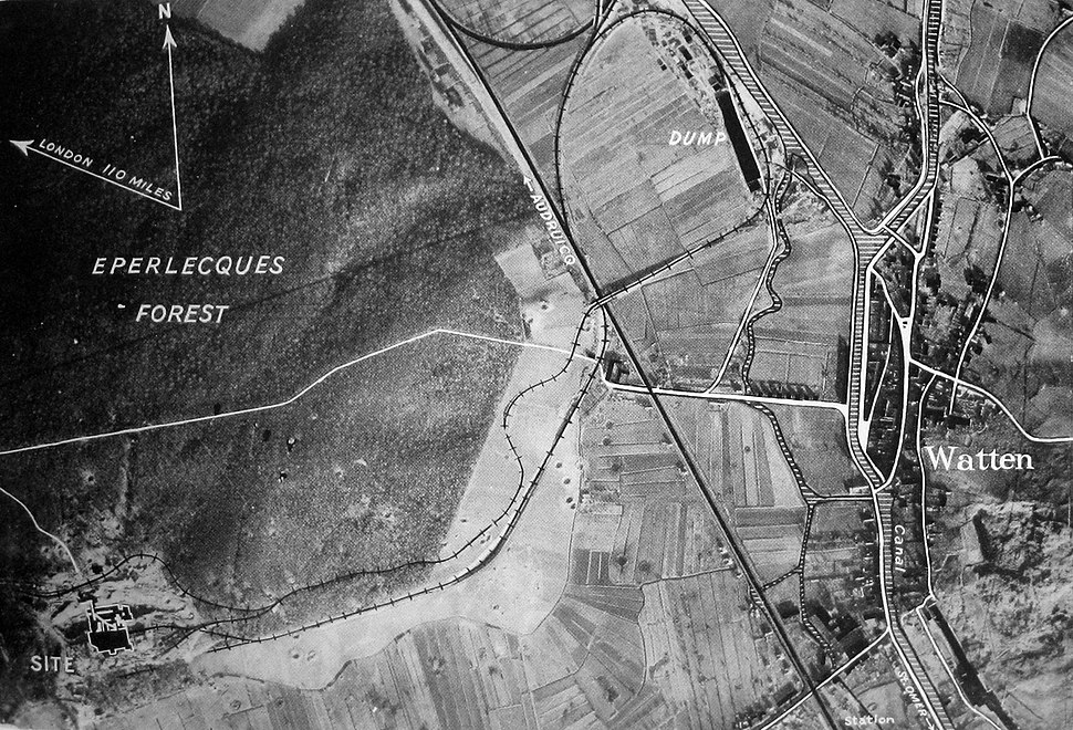 Watten site aerial view annotated