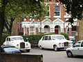 Wedding cars at Church of the Sacred Heart, Kilburn - geograph.org.uk - 40484.jpg