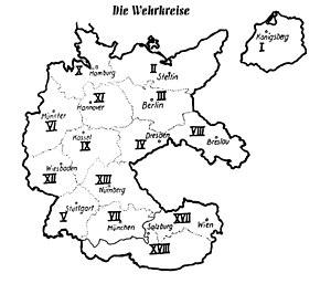 Military district (Germany) - The Wehrkreise after the Anschluss