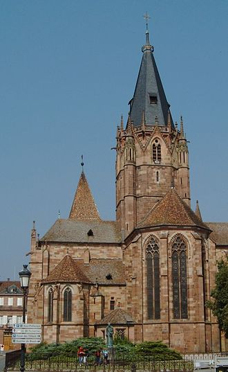 Weissenburg Abbey, Alsace - Collegiate Church of SS. Peter and Paul, part of the old abbey