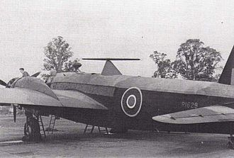 "Airborne early warning and control - Wellington Ic ""Air Controlled Interception"" showing rotating radar antenna"