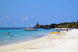 English: West Bay Beach, Roatan, Honduras.