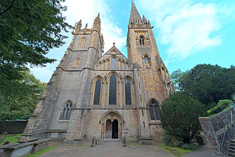 Llandaff Cathedral - The west front of Llandaff Cathedral