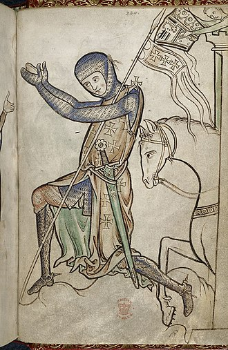 Royal manuscripts, British Library - Detail of miniature from the Westminster Psalter, c. 1250, Royal MS 2 A XXII, f. 220