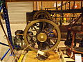 Wheel from HMAS Melbourne at the Treloar Technology Centre Sept 2012.JPG