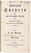 Wieland, Horazens Satyren I (1786), title page.jpg
