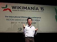 Wikimanía 2015 - Day 4 - Luis von Ahn conference - LMM (8).jpg