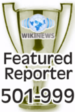 This award is presented to Wikinews reporters upon their 501st published news article.