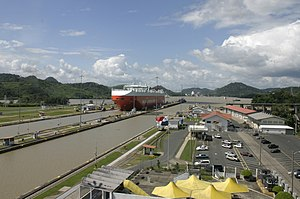 History of the Panama Canal - Miraflores Locks in 2004