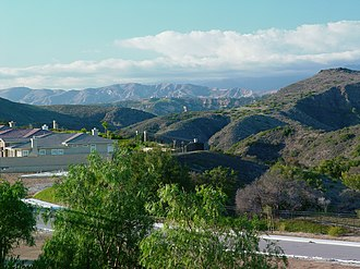 Newbury Park, California - New home construction in the Rancho Conejo Village community, along Wildwood Canyon.